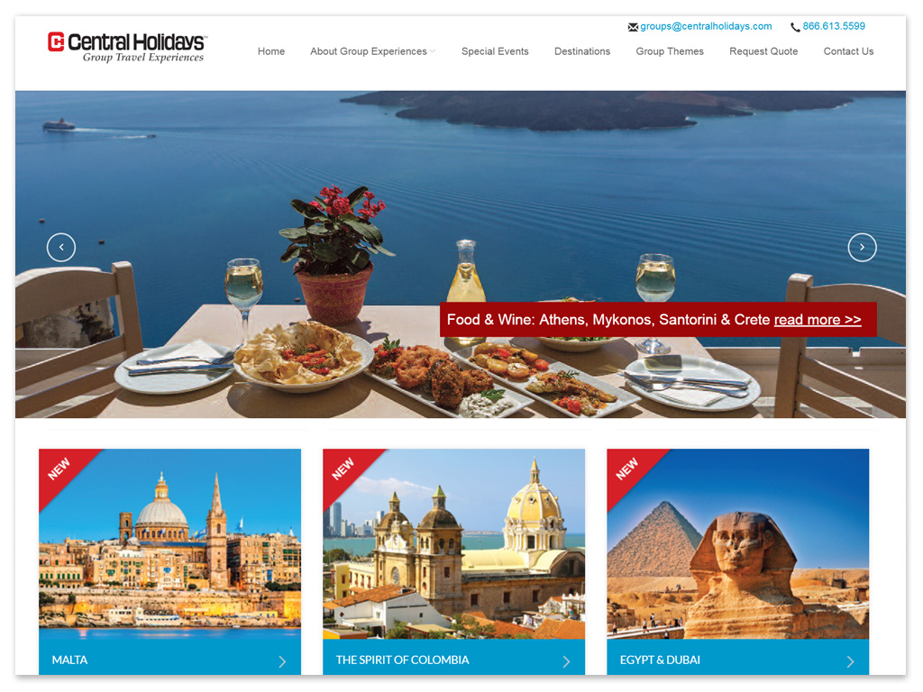 Group Travel Experiences | Web Solutions