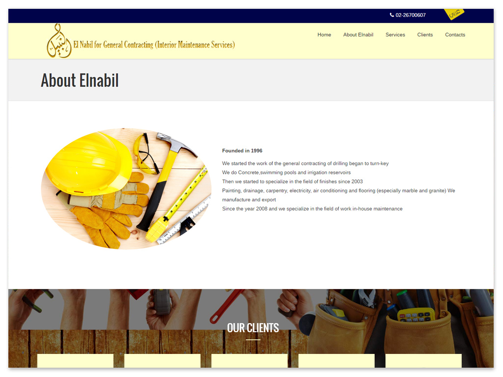 El Nabil for General Contracting | Web Solutions