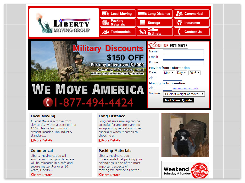 Liberty Moving Group | Web Solutions