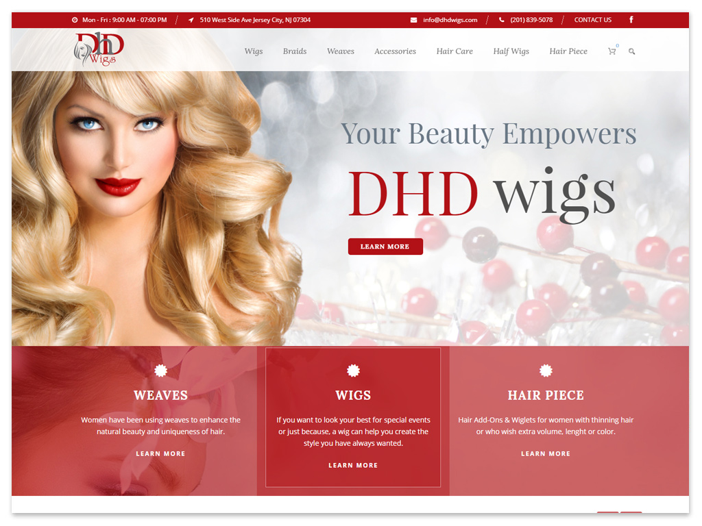 DHD Wigs | Web Solutions