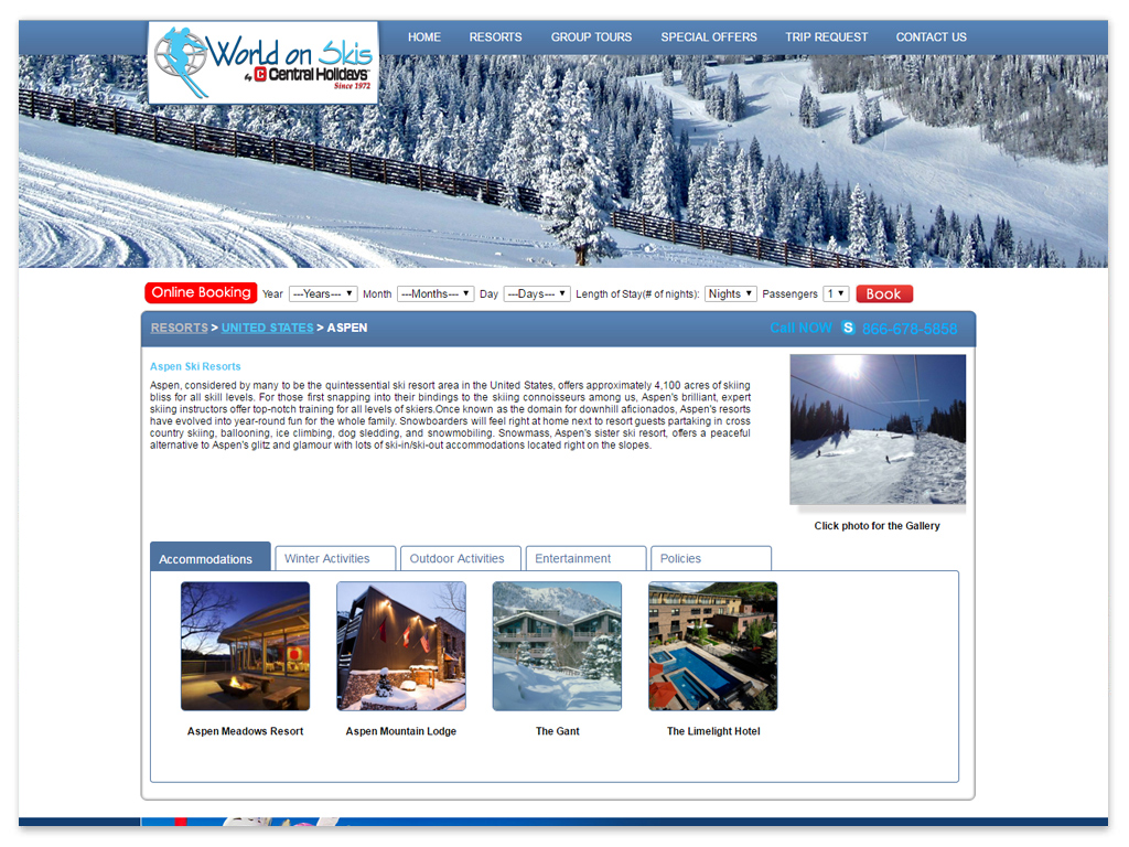 World on Skis | Web Solutions