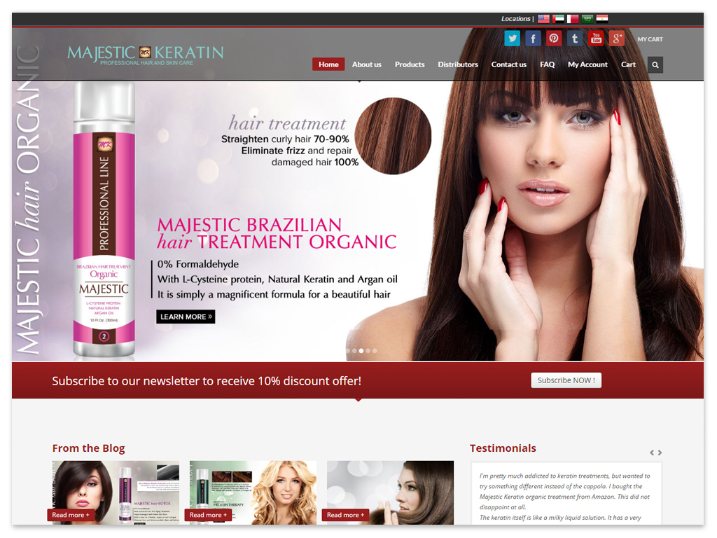 Majestic Keratin | Web Solutions