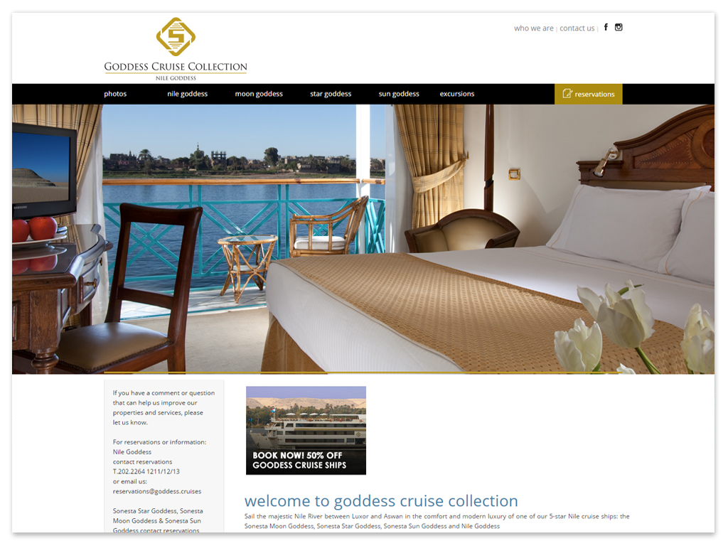 Goddess Cruise Collection | Web Solutions