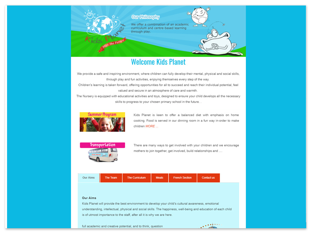 Kids Planet | Web Solutions