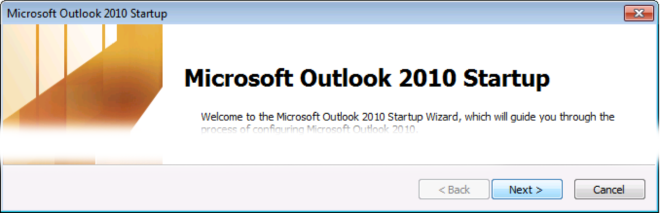 Outlook 2010: Set up email