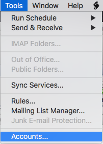Outlook 2011 Mac Set up email